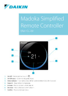 Madoka Simplified Remote Controller_UserGuide