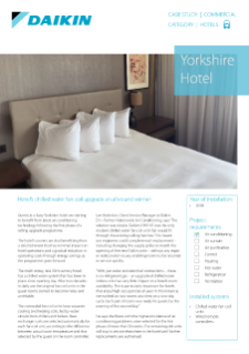 Hotel_Refurb_Ducted fancoils_Yorkshire Hotel case study