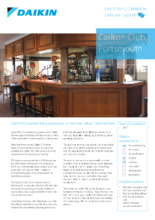 Leisure_Refurb_R32 Split_SkyAir_Carlton Club case study