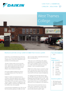 Education_Refurb_VRV HR_West Thames College Case study