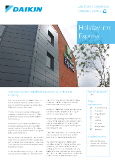 Hotel_Refurb_VRV_Auto cleaning duct_Holiday Inn Express case study