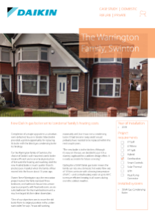 Private_Refurb_35kW Gas Condensing Boiler_The Warrington Family, Swinton Case Study