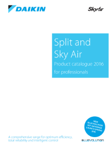 Daikin Split&SkyAir_Catalogue 2016_English