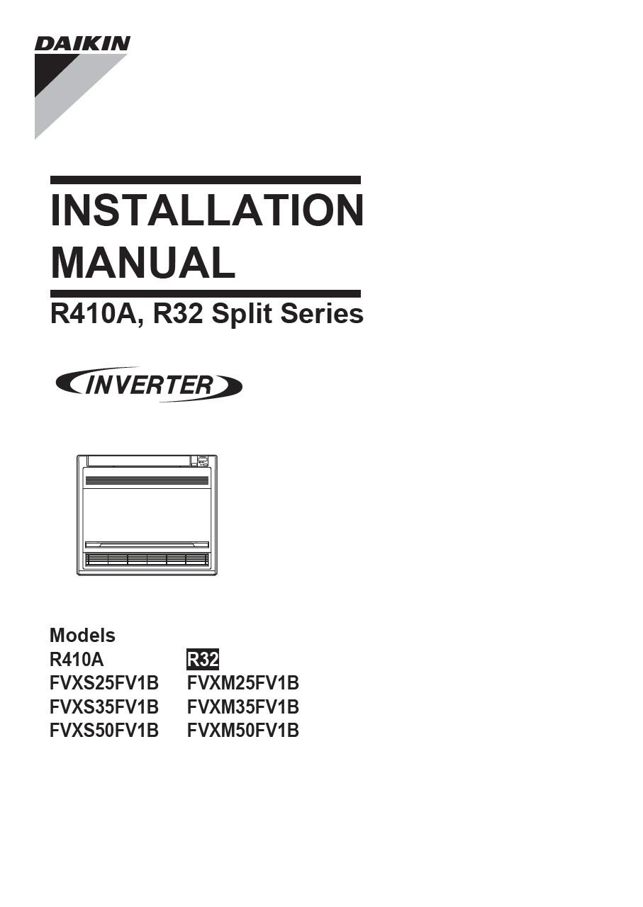 Daikin rxs50g2v1b manual.