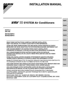 daikin vrv iii service manual pdf