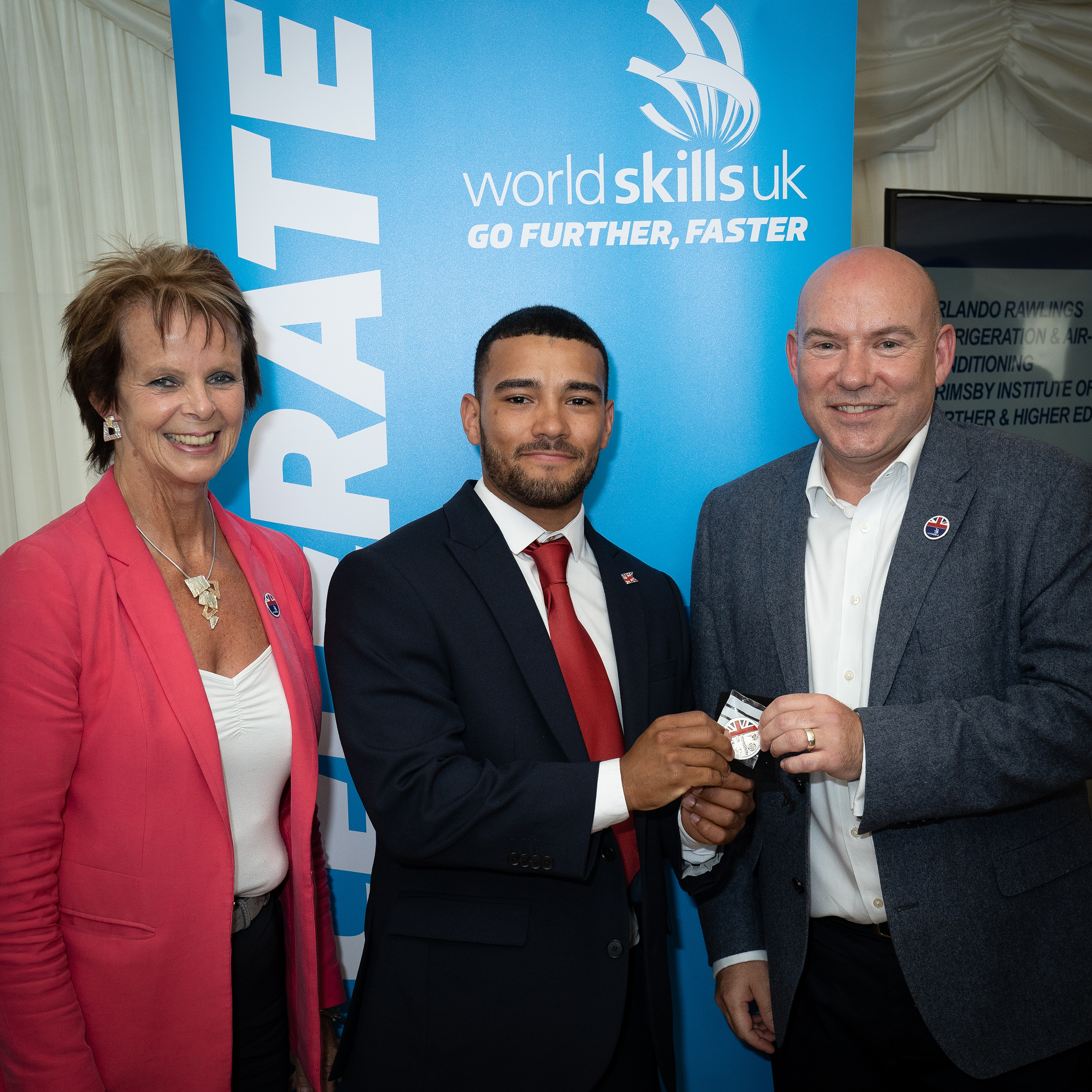 Orlando with Anne Milton MP and Dr Neil Bentley, Chief Executive WorldSkills UK.jpg